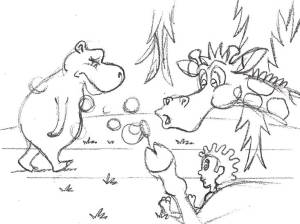 pg06_hippo_walks_by sketch for hippo