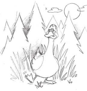 Duck Sketch pg29_limping