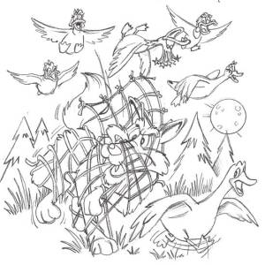 Duck Sketch pg31_coyote_tangled