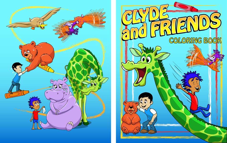 Coloring Book Covers | Clyde and Friends