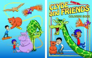 Clyde and Friends Coloring Book Covers color_cover